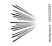 speed lines manga style.... | Shutterstock .eps vector #1042257097