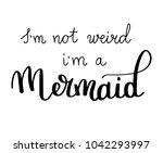mermaids inspirational quote... | Shutterstock .eps vector #1042293997