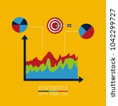 statistics data analysis... | Shutterstock .eps vector #1042299727