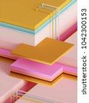 3d render  modern abstract... | Shutterstock . vector #1042300153