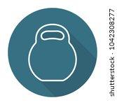 kettlebell flat icon | Shutterstock .eps vector #1042308277