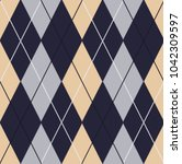 seamless argyle pattern.... | Shutterstock .eps vector #1042309597