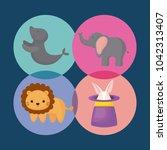 carnival circus design | Shutterstock .eps vector #1042313407