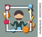 school teacher design | Shutterstock .eps vector #1042313443