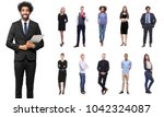 businessman with people in the... | Shutterstock . vector #1042324087