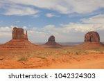 west mitten butte  east mitten... | Shutterstock . vector #1042324303