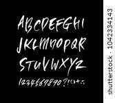 vector fonts   handwritten...   Shutterstock .eps vector #1042334143