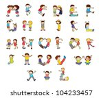illustration of an alphabet set | Shutterstock .eps vector #104233457