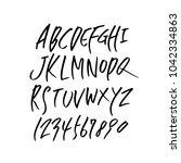 vector fonts   handwritten... | Shutterstock .eps vector #1042334863