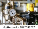 pressure gauge using measure... | Shutterstock . vector #1042339297