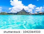 bora bora island  french...   Shutterstock . vector #1042364533