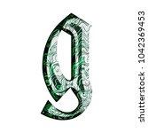 green tech wires metallic style ... | Shutterstock . vector #1042369453
