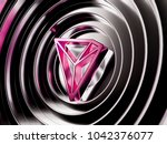 pink tron cryptocurrency symbol ... | Shutterstock . vector #1042376077