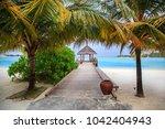 the maldives. paradise rest.... | Shutterstock . vector #1042404943