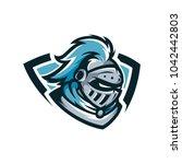 spartan vector logo icon... | Shutterstock .eps vector #1042442803