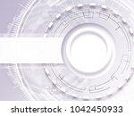 abstract technology...   Shutterstock . vector #1042450933