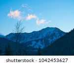 stevens pass mountain lit... | Shutterstock . vector #1042453627