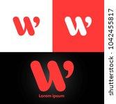 letter w logo design template... | Shutterstock .eps vector #1042455817