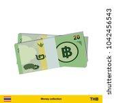 20 thai baht banknote.  thai...   Shutterstock .eps vector #1042456543