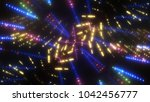 abstract shiny neon background... | Shutterstock . vector #1042456777