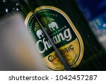 thai beer  chang beand  two... | Shutterstock . vector #1042457287