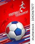 football  soccer  poster ...   Shutterstock .eps vector #1042467877