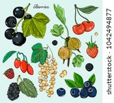 berries icons set | Shutterstock .eps vector #1042494877