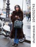 paris march 1  2017. street... | Shutterstock . vector #1042502743