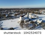 aerial view of the church of... | Shutterstock . vector #1042524073