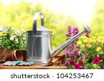 outdoor gardening tools and... | Shutterstock . vector #104253467