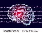 eeg electroencephalogram  brain ... | Shutterstock . vector #1042543267