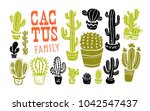 collection of hand drawn cactus ... | Shutterstock . vector #1042547437