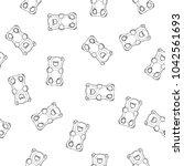 gummy bears vector seamless... | Shutterstock .eps vector #1042561693