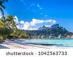 bora bora island  french... | Shutterstock . vector #1042563733