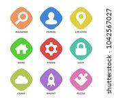basic design icons set. color... | Shutterstock .eps vector #1042567027