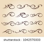 set design elements. vector... | Shutterstock .eps vector #1042570333