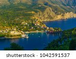panoramic view of assos village ... | Shutterstock . vector #1042591537