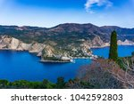 panoramic view of assos village ... | Shutterstock . vector #1042592803