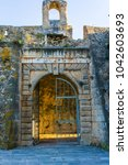 castle gate of assos village... | Shutterstock . vector #1042603693
