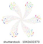 colorful spanners and wrenches... | Shutterstock .eps vector #1042632373