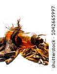 ayurvedic herb liquorice root... | Shutterstock . vector #1042665997