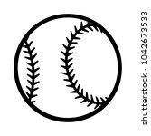baseball ball silhouette vector ...   Shutterstock .eps vector #1042673533