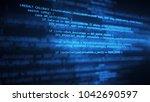 the programming code works... | Shutterstock . vector #1042690597