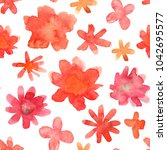 seamless floral pattern with... | Shutterstock . vector #1042695577