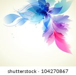 floral background . vector... | Shutterstock .eps vector #104270867