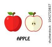 vector illustration flat apple... | Shutterstock .eps vector #1042723837