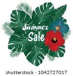 vector illustration of summer...   Shutterstock .eps vector #1042727017