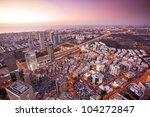 Tel Aviv At Sunset  Ramat Gan...