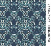 baroque floral pattern. classic ... | Shutterstock . vector #1042745137