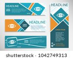 eye icon on horizontal and... | Shutterstock .eps vector #1042749313